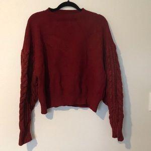 ZARA Red knit sweatshirt
